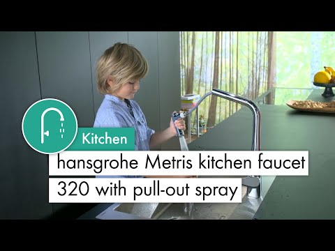 hansgrohe Metris kitchen mixer with pull-out spray