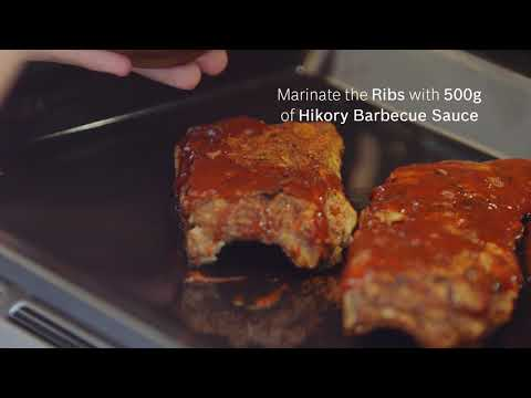 Barbecue spareribs med slaw