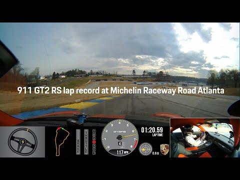 Porsche 911 GT2 RS sets production car lap record at Michelin Raceway Road Atlanta