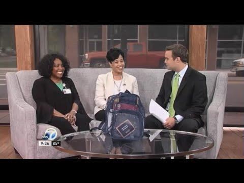 Rachel White, RN, & Leititia Bailey Talk Free Immunization Clinics