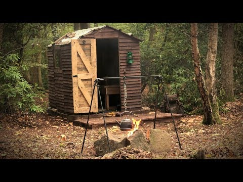 Cooking at the Off Grid Cabin in the Woods - Woodstove, Firepit (WINTER PREPARATION)