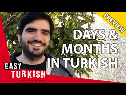 Days and months in Turkish (PREVIEW) | Super Easy Turkish 7 photo