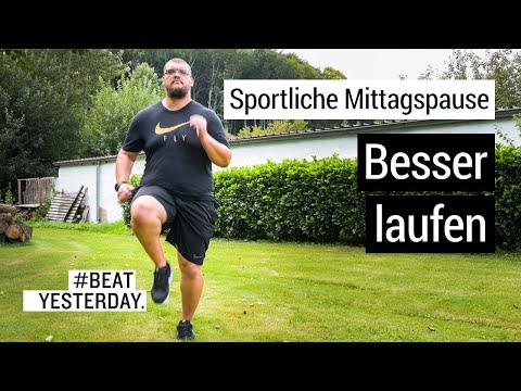 Besser laufen - Sportliche Mittagspause | #BeatYesterday