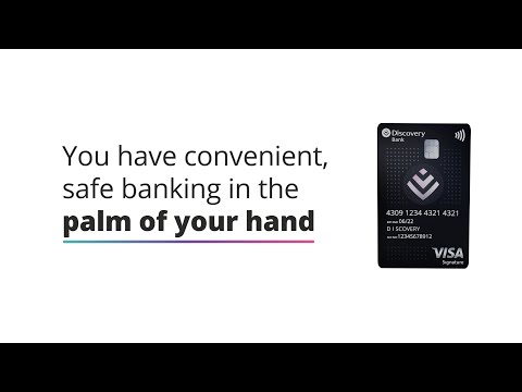 Manage your Discovery Bank cards and accounts on the app
