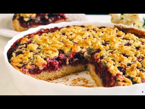 Постный Тертый Пирог с вишнями!Просто и Нереально Вкусно