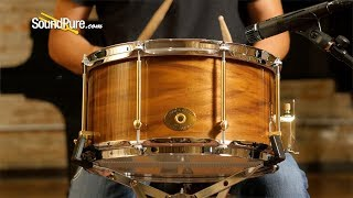 Noble & Cooley 7x13 SS Classic Walnut Snare Drum, Natural—Quick 'n' Dirty