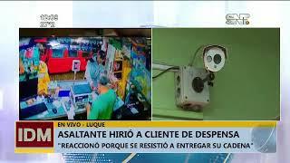 Asaltante hirió a cliente de despensa en Luque