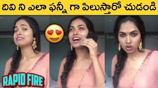Bigg Boss 4 Contestant Divi Vadthya Rapid Fire | Latest Funny Video | Actress Divi Vadthya - RAJSHRITELUGU