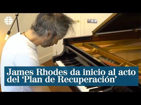 El pianista James Rhodes da inicio al acto del 'Plan de Recuperación' de la economía española