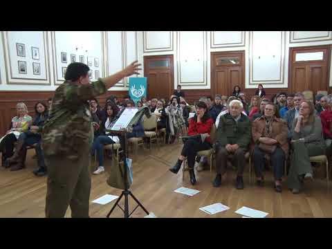 Andrés Fernández - Silencio Ficticio se presentó en el Salón Blanco