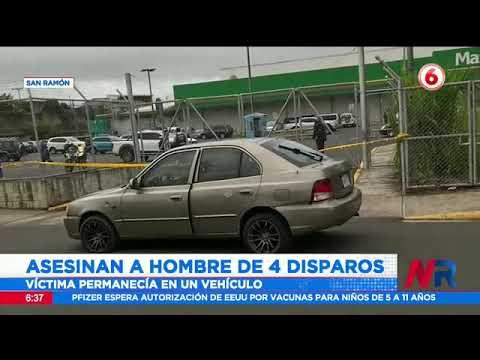 Asesinan a hombre de 4 disparos en San Ramón