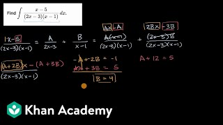 Integration with partial fraction decomposition