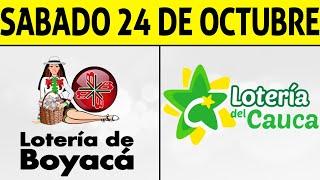 Resultados Lotería de BOYACÁ y CAUCA Sábado 24 de Octubre de 2020 | PREMIO MAYOR ????????????