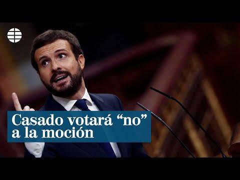 Pablo Casado votará «no» a la moción de censura de Vox