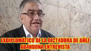 EXDIPLOMATICO DE AÑEZ SE INCOMOD4 POR LA PR3GUNTA Y AB4NDONA ENTREVISTA PÚBLICAMENTE..