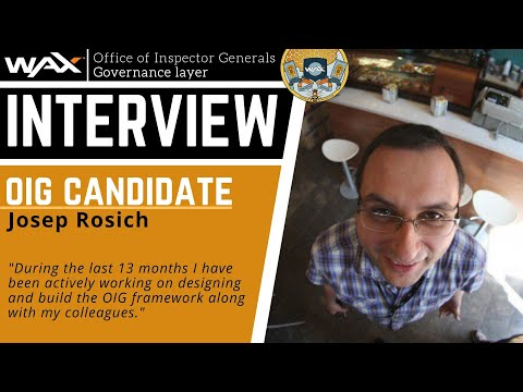 Josep Rosich | OIG Candidate | WAX Governance