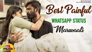Maruvaali Song WhatsApp Status Video | Thoota Telugu Movie | Sid Sriram | Dhanush | Megha Akash - MANGOMUSIC