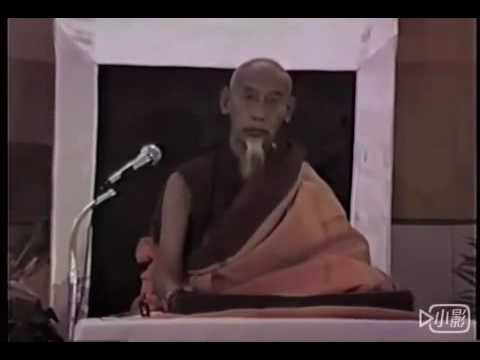 Kyabje Zong Rinpoche giving Dharma teaching 1