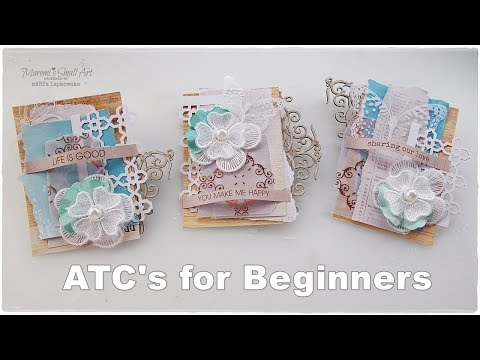 Easy ATC's for Beginners ♡ Maremi's Small Art ♡