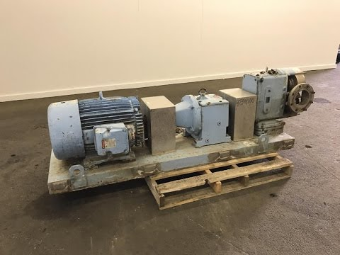 Used- Waukesha Rotary Positive Displacement Pump, Model 320 - stock # 47384100