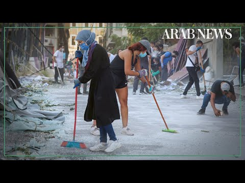 Lebanese clean up after blast in solidarity and rage