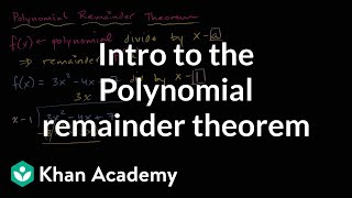 Polynomial remainder theorem