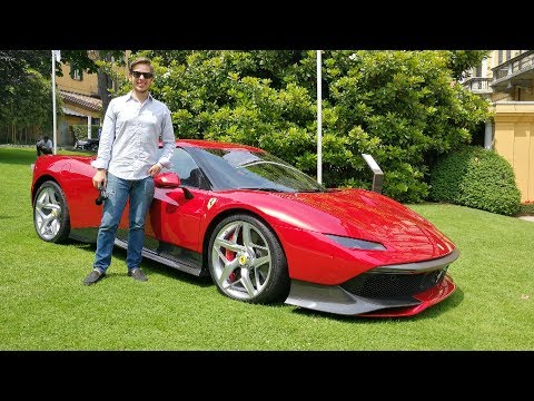 This is the ?4.0M Ferrari SP38 Deborah! WORLD DEBUT + Engine Sound [Sub ENG]
