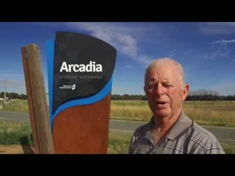 Arcadia town entry sign - Greater Shepparton
