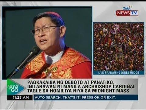 Pagkakaiba ng deboto at panatiko, inilaran ni Manila Archbishop Cardinal Tagle sa homiliya niya