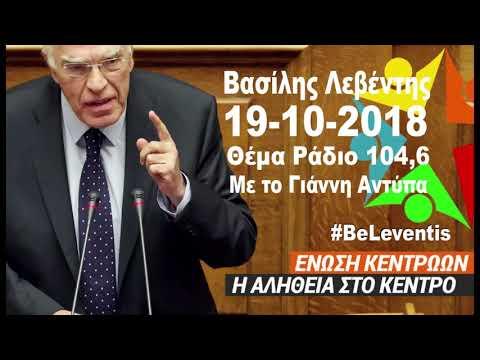 Ενώ ψήφιζαν στη Βουλή των Σκοπίων... (Β. Λεβέντης, Θέμα Ράδιο, 19-10-2018)