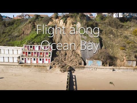 view Ocean Bay in Swanage landslides March 2020