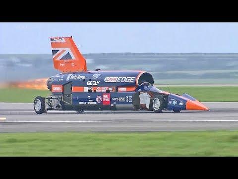 World?s Fastest Car ? 1,000mph Bloodhound SSC ? First Public Runs