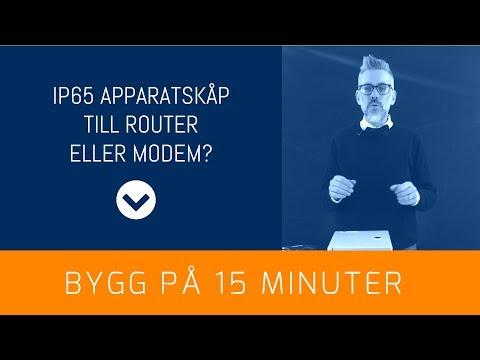 Montera IP65 apparatskåp för router och modem