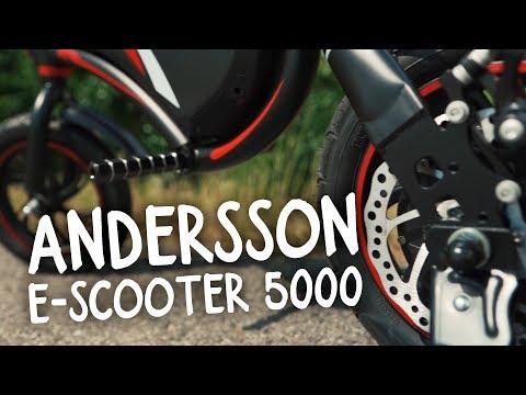 Robust el-scooter med hastighet upp till 30 km/h