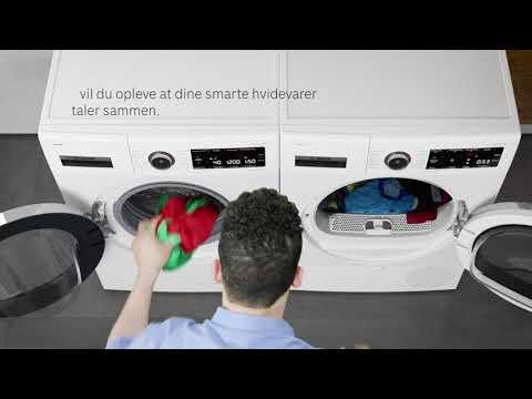 En ny dimension på vask og tørring af dit tøj – Bosch Serie 8 vaskemaskine  og tørretumbler