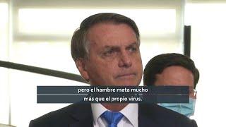 Pese a récord de muertes Bolsonaro rechaza cuarentenas: 3.869 fallecidos en 24 horas