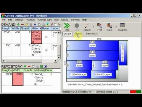 Panel cutting optimizer for mac