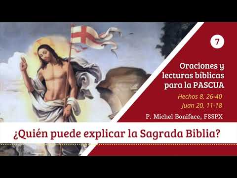 ¿Quien puede explicar la Sagrada Biblia