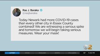 Newark Mayor Ras Baraka Says City Will 'Begin Taking Serious Measures' Amid 'Serious Spike' In COVID