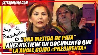 ???? JEANINE ÁÑEZ admite ante FISCALES que NO TIENE un DOCUMENTO que la AVALE como «PRESIDENTA» ????