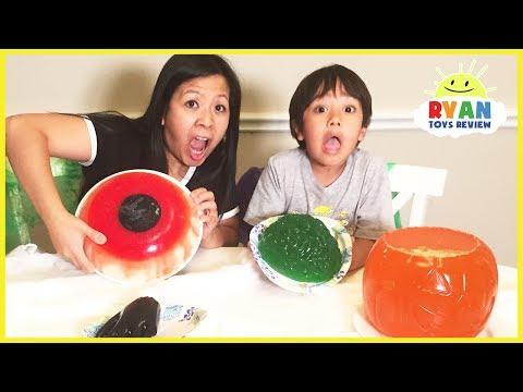 Halloween Gummy Food vs Real Food challenge! Halloween Gummy Giant Candy Parent vs Kid taste test