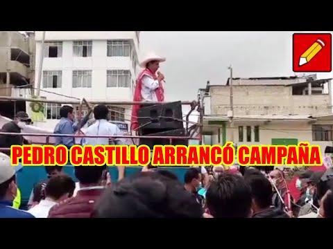 PEDRO CASTILLO LLEGÓ A CUTERVO DONDE MILES ACOMPAÑARON EL INICIO DE LA SEGUNDA VUELTA..