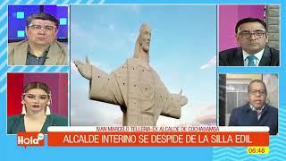 EX ALCALDE DE COCHABAMBA SE DESPIDE DE LA SILLA EDIL