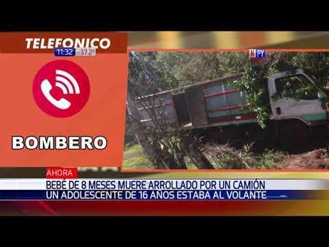 Trágico: Bebé de 8 meses muere arrollado por un camión