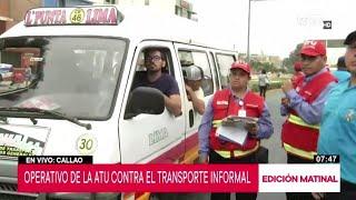 ATU realiza operativo contra el transporte informal en Bellavista