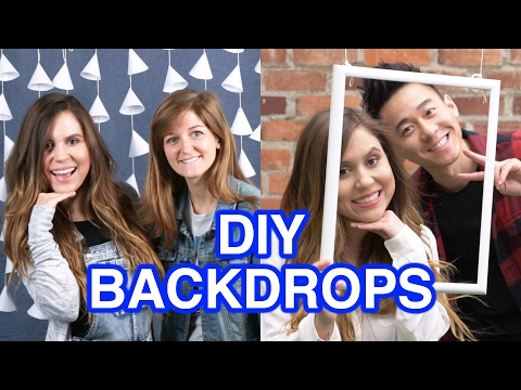 DIY Party Photo Backdrops