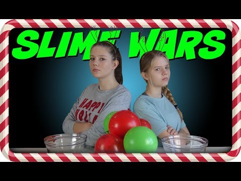 connectYoutube - SLIME WARS HOLIDAY BALLOON POP    CHRISTMAS 2017    Taylor and Vanessa