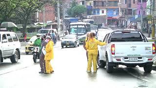 Comenzó a regir el toque de queda y la ley seca en el barrio Santa Cruz [Noticias] - Telemedellín