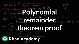 Polynomial remainder theorem proof