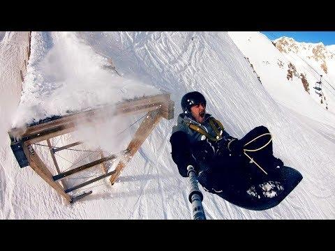 connectYoutube - Ski Ramp Bungee Jumping!